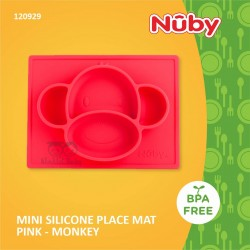 Nuby - Mini Silicone Placemat Pink - Monkey (120930)