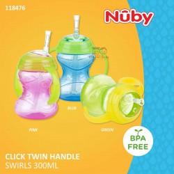 Nuby - Click Twin Handle Swirls 300ml (118476)