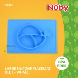 Nuby - Large Silicone Placemat Blue - Whale (120925)