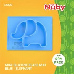 Nuby - Mini Silicone Placemat Blue - Elephant (120928)