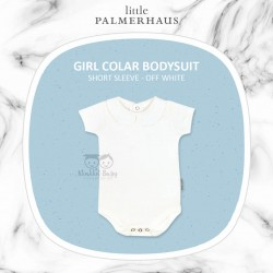 Little Palmerhaus - Girl Collar Bodysuit Short Sleeve (Jumper) - Off White