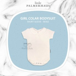 Little Palmerhaus - Girl Collar Bodysuit Short Sleeve (Jumper) - Beige