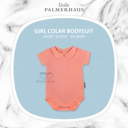 Little Palmerhaus - Girl Collar Bodysuit Short Sleeve (Jumper) - Salmon