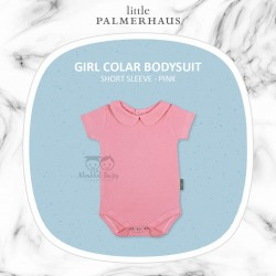 Little Palmerhaus - Girl Collar Bodysuit Short Sleeve (Jumper) - Pink