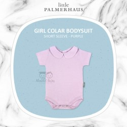 Little Palmerhaus - Girl Collar Bodysuit Short Sleeve (Jumper) - Purple