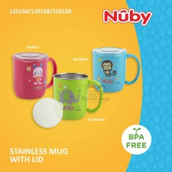 Nuby - Stainless Mug With Lid (120156/120158/120159)