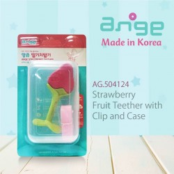 Ange - Strawberry Fruit Teether with Clip and Case