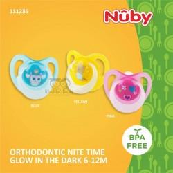 Nuby - Orthodontic Nite Time Glow in The Dark 6-12M (111235)