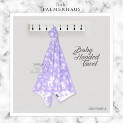 Little Palmerhaus - Baby Hooded Towel - Deer Purple