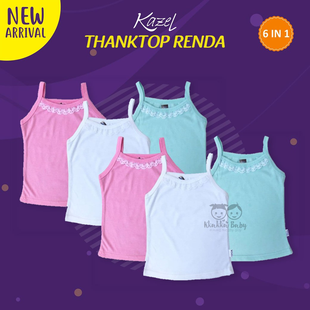 ... Jumper Girls Isi 6 Source · Kazel Tanktop Renda 6 pcs pack Kkakka ID