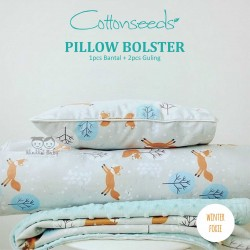 Cottonseeds - Pillow Bolster - Winter Foxie