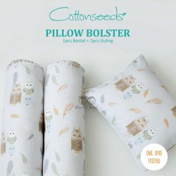 Cottonseeds - Pillow Bolster - Owl and Friends