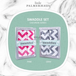 Little Palmerhaus - Swaddle Set of 2 - Chevron Series Pink