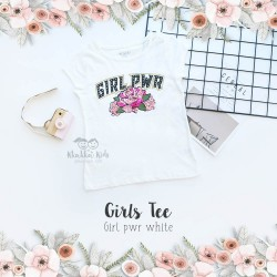 Girl's Tee - Girl Pwr White