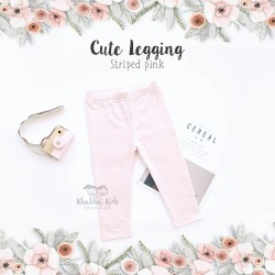 Cute Legging - Striped Pink