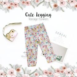 Cute Legging - Vintage Flower