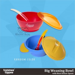 Tommee Tippee -Big Weaning Bowl with Heat Sensor Spoon