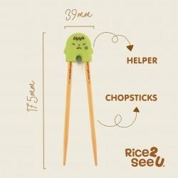 Mother's Corn - Rice 2 See U Chopsticks Training Set - Green