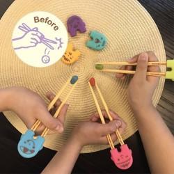 Mother's Corn - Rice 2 See U Chopsticks Training Set - Blue