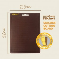 Mother's Corn - Silicone Cutting Board - Brown