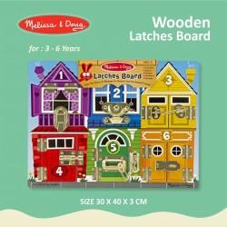 Melissa & Doug - Wooden Latches Board
