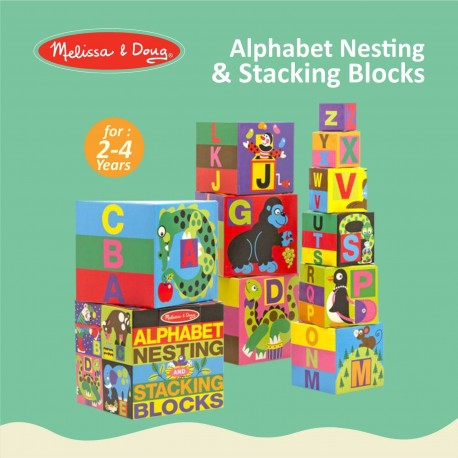 New Melissa Doug Alphabet Stacking And Nesting Blocks 2