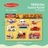 Melissa & Doug - Vehicles Sound Puzzle - 8 Pieces