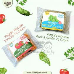 Ladang Lima - Veggie Noodle Basil and Garlic 76Gram