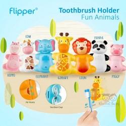 Flipper - Toothbrush Holder Fun Animals  - Cow