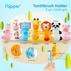 Flipper - Toothbrush Holder Fun Animals  - Giraffe
