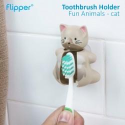Flipper - Toothbrush Holder Fun Animals  - Cat