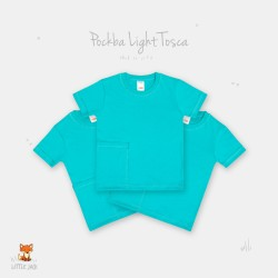 Little Jack - Pocket Basic T-Shirt - Light Tosca