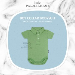 Little Palmerhaus - BoyCollar Bodysuit Short Sleeve (Jumper) - Army Green
