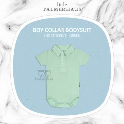 Little Palmerhaus - BoyCollar Bodysuit Short Sleeve (Jumper) - Green