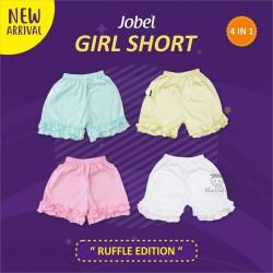 Jobel - Girl Shorts (4 pcs/pack) - Ruffle Edition