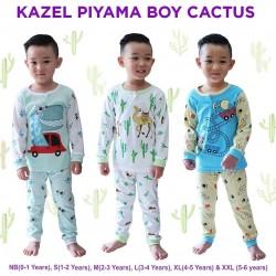 Kazel - Piyama (3 set/pack) -  Boy Cactus Edition