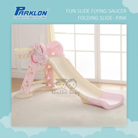 Parklon - Fun Slide - Flying Saucer Folding Slide (Pink)