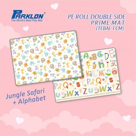 Parklon PE Roll Double Side Prime Mat (Tebal 1 cm) - Jungle Safari + Alphabet