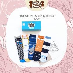 Petite Mimi - 5Pairs Long Sock Box Boy- Jojo