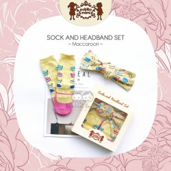 Petite Mimi - Sock and Headband Set - Macaroon