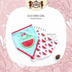 Petite Mimi - Duo Bibs Girl - Watermelon
