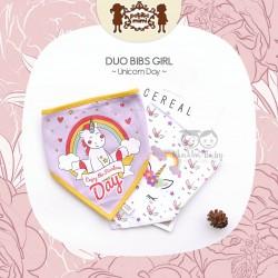 Petite Mimi - Duo Bibs Girl - Unicorn Day