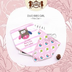 Petite Mimi - Duo Bibs Girl - Pink Owl