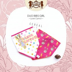 Petite Mimi - Duo Bibs Girl - Love Carrot