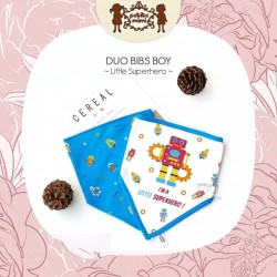 Petite Mimi - Duo Bibs Boy - Little Superhero