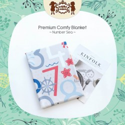 Petite Mimi - Premium Comfy Blanket - Number Sea