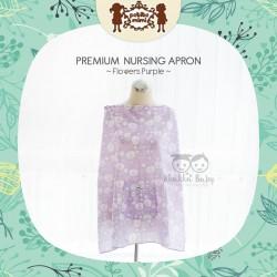 Petite Mimi - Premium Nursing Apron - Flowers Purple