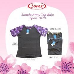 Sorex - Simple  Army Top Baju Sport 1070