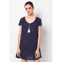 Veyl Women - Poppy Dress Polkadot - Navy