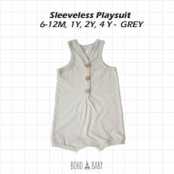 Bohobaby - Sleeveless Playsuit 3Y, 4Y - Gray